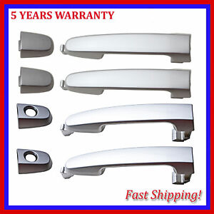 For Pontiac Vibe 2003-2010 1.8 2.4L Outside Door Handle Silver Set of 4PCS New
