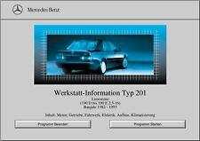 WIS Reparaturanleitung für Mercedes Benz W201 alle Modelle sofort als Download