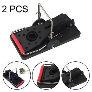 2 Pcs Plastic Mouse Traps Premium 4.5 CM x 9.5 CM Snap Mice Trap Catcher UK