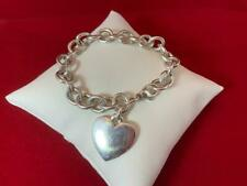 James Avery Sterling Silver Classic Cable Charm Bracelet with Heart 7""
