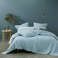 Bianca Hayes Bedspread Set Soft Blue in All Sizes