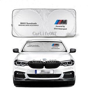 Car Front Rear Windshield Sun Shade Shield Cover Visor UV Block Foldable for BMW