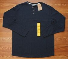 NWT NEW Levi's Mens Dark Blue Long Sleeve Henley Casual Shirt Size Medium