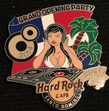 HARD ROCK CAFE SANTO DOMINGO GRAND OPENING PARTY STAFF DJ GIRL PIN RARE