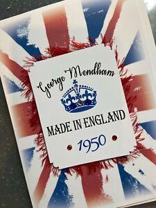Personalised Handmade 'MADE IN ENGLAND' Birthday Card