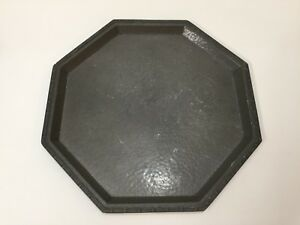 """Antique Heavy Mayflower Pewter 1301 Hammered Octagonal Serving Tray, 14"""" Dia"""