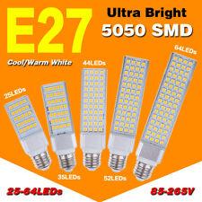 85 ~ 265V E27 Hall Spot lâmpadas Milho Led Luzes 5/7/9/11/13W Plug lâmpadas horizontal