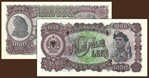 ALBANIA 1957 - ORIGINAL BANKNOTE 1000 LEKE - UNC