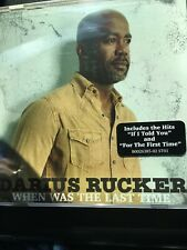 When Was the Last Time * by Darius Rucker (CD, Oct-2017, Capitol)