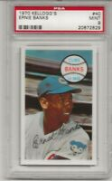 1970 KELLOGG'S #40 ERNIE BANKS, PSA 9 MINT, HOF, CHICAGO CUBS, L@@K !