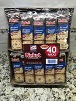 40 Packs Nekot Lance Cookie Sandwich Peanut Butter Crackers NABS FREE SHIP