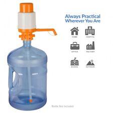 Orange Water Bottle Hand Pump Dispenser For 3 & 5 Gallon Bottles Portable New