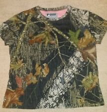Women's Medium 8/10 Russell Outdoors Mossy Oak break-up camo shirt