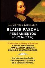 Blaise Pascal : Pensaminetos (o Pens�es), Colecci�n la Cr�tica Literaria Por...