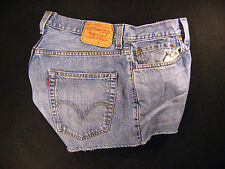 Levis Vintage 569 CUTOFF JEANS SHORTS Cut Off W 31 MEASURED Loose HIGH WAISTED
