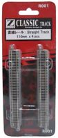 NEW Rokuhan Z Scale 1/220 R001 110mm Straight Track with Power Feed Point 4 pcs