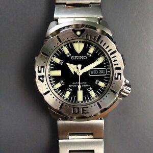 SEIKO 1st gen Black Monster Diver SKX779 /w Original Bracelet