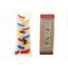 Kaper Kidz Wooden Children's Rolling Car Toy! Car Race & Flip Down Ramps!