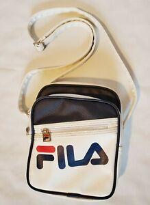 Fila Buster White And Blue Navy Shoulder Bag Crossbody Purse Messenger Bag