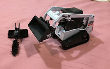 T200 Die Cast Bobcat Skid Steer 1:25 Scale With Bucket And Auger Pre-owned