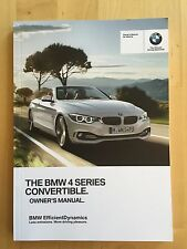 New BMW Owner's Manual 4 Series Convertible 428, 435 X-Drive 2014-17