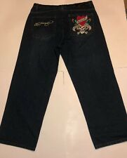 Ed Hardy Christian Audigier Love Kills Slowly Denim Jean Pants Size  40