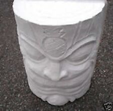 1/2 log strong plastic concrete plaster mold  tiki leg table top statue
