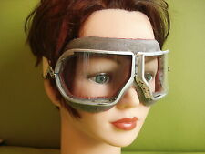 STEAMPUNK, VICTORIANA VINTAGE FLYING GOGGLES SOVIET ERA CLEAR AVIATION GLASSES