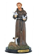 "9"" Inch Saint St Francis Santo Francisco Statue Figurine Figure Religious"