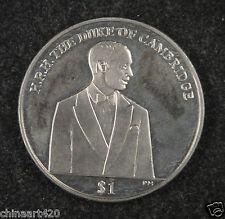 British Virgin Islands Coin $1 2012 UNC, H.R.H The Duke of Cambridge