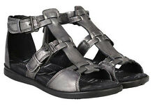 Ecco Tilda Sandalen Schuhe Badeschuhe Damen grau echtes Leder Gr. 37 NEU