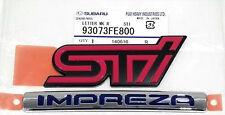 Subaru Impreza WRX STI HAWKEYE insignia emblema de arranque trasero 2006-2007