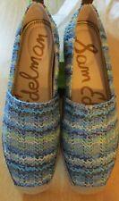 NEW Sam Edelman Womens Shoes 9 Khloe Espardrille Flats Blue Raffia FREE SHIPPING