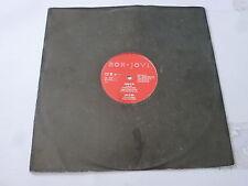 """BON JOVI - Living In Sin - 1989 UK 4-track 12"""" vinyl single"""
