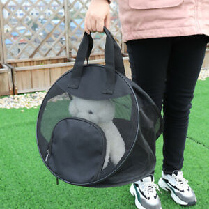 Breathable Mesh Pet Dog Cat Carrier Crate Puppy Portable Cage Bag Foldable Tote