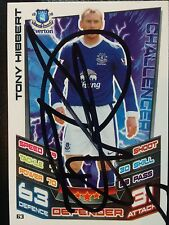 TONY HIBBERT SIGNED EVERTON 2012/2013 MATCH ATTAX TRADING CARD+COA