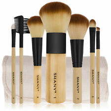 SHANY Pure Bamboo Brush Set - Vegan Brushes With Premium Synthetic Hair &  Pouch
