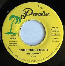 "Rare D.C. gospel soul funk 45 DYNAMICS ""Come Thou Foun't"" Hilton Felton HEAR mp3"