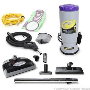 ProTeam Backpack Vacuum Cleaner 120-Volt Portable Corded Adjustable Backrest