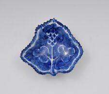 18th Century Bow Porcelain Blue Fruiting Vine Pickle Dish c.1765