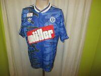 """FC Schalke 04 Original Adidas Heim Trikot 1993/94 """"müller"""" + Signiert Gr.M"""