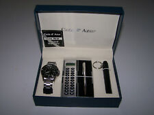 COTE D' AZUR WATCH , PEN , FLASH LIGHT , CALULATOR  NEW IN BOX COST $ 89.99