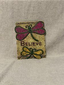 Ganz Decorative 'Believe' With Dragonflies Wall Plaque