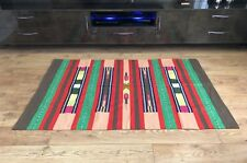 Colourful Handwoven Flat Weave Handloom Cotton Indian Dhurrie Rug 180 x 120