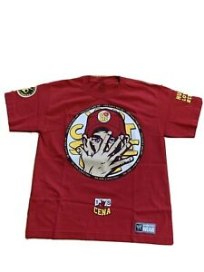 2014 John Cena Youth Large You Can't See Me Red T-shirt WWE Kids L