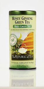 Honey Ginseng Daily Green Tea by The Republic of Tea, 50 tea bag