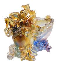 Chinese Crystal Glass Liuli  Pate-de-verre  Horses Display cs119