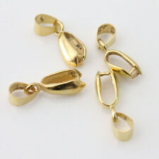 10Pcs Gold Plated Pendant Pinch Clip Connector Bails Finding 20mm DIY