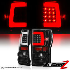 "For 07-13 Toyota Tundra ""NEWEST NEON TUBE"" Black LED Rear Brake Tail Lights Lamp"