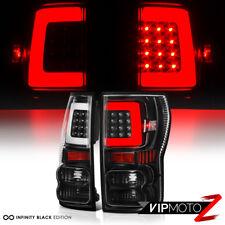"2007-2013 Toyota Tundra ""NEWEST NEON TUBE"" Black LED Rear Brake Tail Lights Lamp"